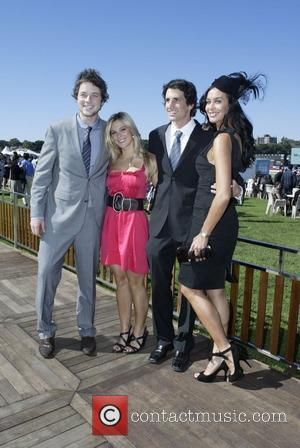 Hamish Blake, guest, Andy Lee, Megan Gale The Doncaster Day racing carnival at Royal Randwick Racecourse  Sydney, Australia -...