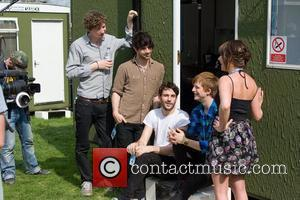The Foals  backstage at the Radio 1 Big Weekend held at Mote Park - Day 2 Maidstone, England -...