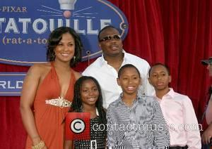 Laila Ali and fiance Johnny McClain with his kids 'Ratatouille' World Premiere at the Kodak Theater - Arrivals Los Angeles,...
