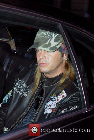 Bret Michaels arriving at the ABC Studios to appear on Live with Regis and Kelly New York City, USA -...