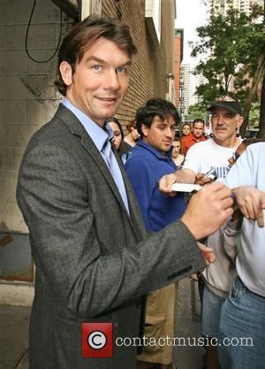 Jerry O'Connell leaving ABC studio's after appearing...