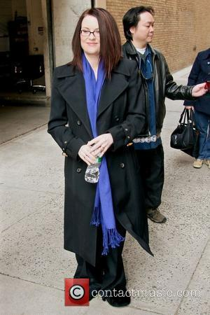 Megan Mullally leaving ABC Studios after appearing on 'Live with Regis and Kelly' New York City, USA - 26.03.08