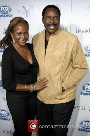 Dave Winfield and his Wife at the premiere of 'Resurrecting The Champ' held at the The Academy of Motion Picture...