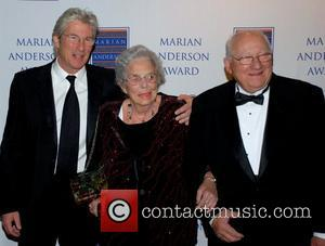 Richard Gere, Doris Gere and Homer Gere Richard Gere is honored with The Marian Anderson Award in a gala held...