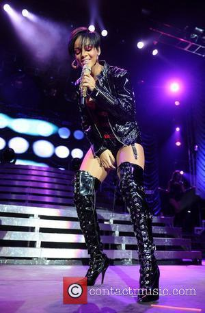 Rihanna On Crutches After Running Into Chair