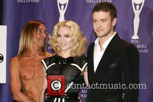 Iggy Pop, Madonna, Justin Timberlake 2008 Rock and Roll Hall of Fame at Waldorf-Astoria hotel - Press Room New York...