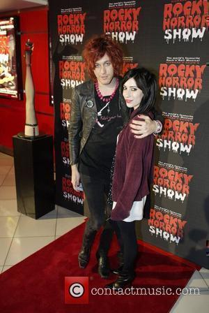 Jess Origliasso (right) of The Veronicas, and Azaria The premiere of the stage production of the Rocky Horror Show....
