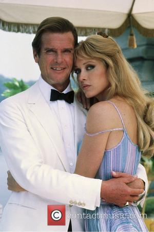 *SIR ROGER MOORE CELEBRATES HIS 80TH BIRTHDAY ON 14TH OCTOBER 2007  Roger Moore (as James Bond) and Tanya Roberts...