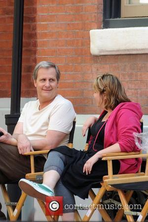 Jeff Daniels on the film set for 'The Dream of the Romans' Philadelphia, Pennsylvania - 24.04.08