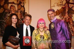 Dustin Hoffman and Zandra Rhodes