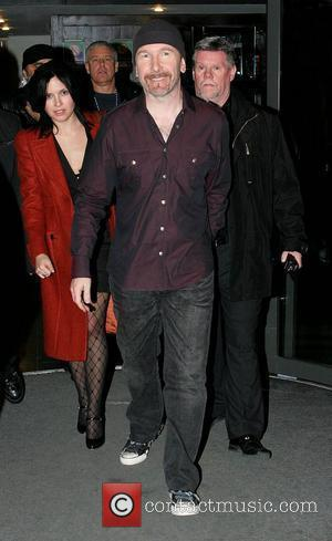 Andrea Corr, The Edge, Adam Clayton leaving RTE Studios after appearing on The Late Late Show Dublin, Ireland - 22.02.08