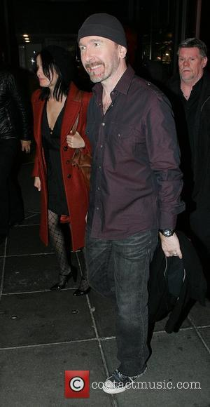 The Edge of U2 leaving RTE Studios after appearing on The Late Late Show Dublin, Ireland - 22.02.08