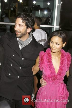 David Schwimmer and Thandie Newton Los Angeles Premiere of 'Run Fatboy Run' held at the Arclight Theatres - Arrivals Los...