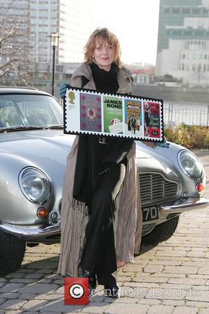 Samantha Bond  launches Royal Mail's James Bond stamps at Millbank - photocall London,England - 07.01.08