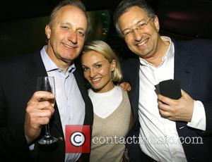 Neil Hamilton, Emma O'Byrne and Larry Billet at the show 'Life After Scandal' shown at the Hamstead Theatre London, England...