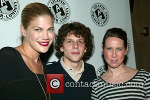 Kristen Johnston, Jesse Eisenberg and Miriam Shor