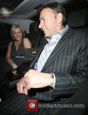 Duncan Bannatyne and His Wife Joanne Mccue Leaving Scott's Restaurant