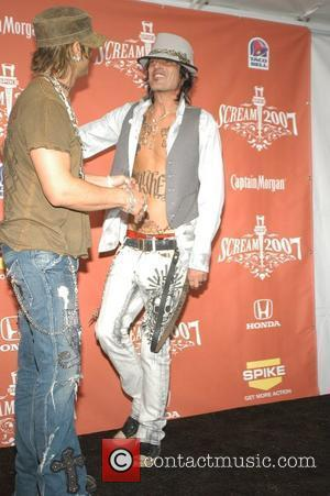 Criss Angel and Tommy Lee Spike TV presents the second annual 'Scream 2007' held at the Greek Theater - Pressroom...
