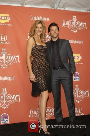 Tricia Helfer and Jamie Bamber Spike TV presents the second annual 'Scream 2007' held at the Greek Theater - Pressroom...
