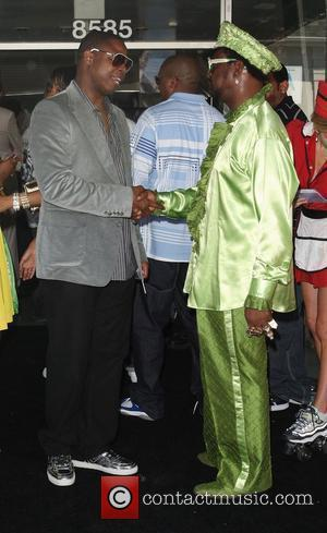 The Arch Bishop Don Magic Juan and Doug E. Fresh Party for Sean Combs aka P Diddy at Mel's Diner...