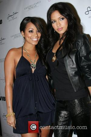 Lauren London and Cassie Sean John Women's launch party at Sean John Flagship store on 5th Avenue New York City,...