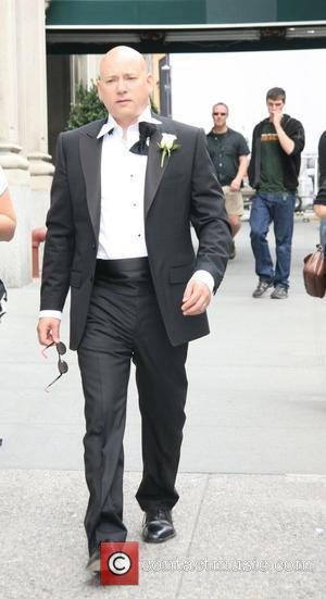 Evan Handler filming a wedding scene for 'Sex And The City: The Movie' New York City, USA - 02.10.07