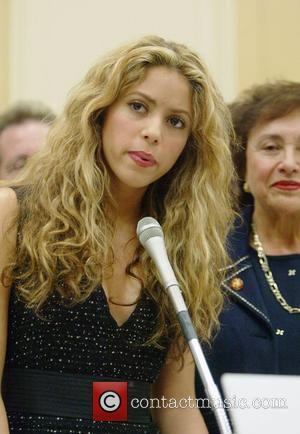 Shakira Colombian singer-songwriter and honorary chairperson of the 'Global ...