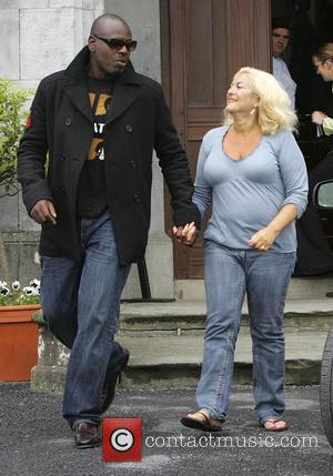 Vanessa Feltz and Ben Ofoedu leaving Kinnity Castle the morning after the wedding of Shane Lynch to Sheena White Offlay,...