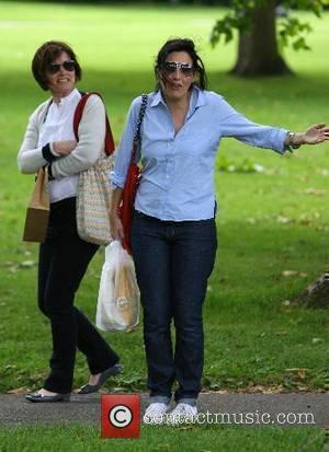 Sharleen Spiteri and a friend strolling through Primrose Hill London, England - 21.06.07