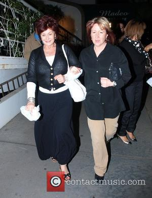 Sharon Osbourne leaving Madeo restaurant in high spirits after dining with friends Los Angeles, California - 31.03.08