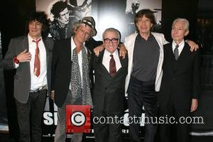 Ronnie Wood, Charlie Watts, Keith Richards, Martin Scorsese and Mick Jagger