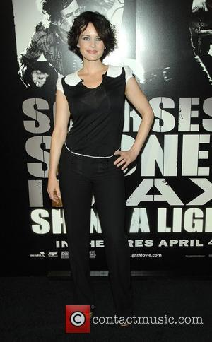Carla Gugino at the New York Premiere of 'Shine a Light' held at the Ziegfield Theater New York City, USA...