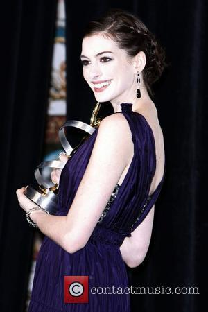 Anne Hathaway ShoWest 2008 Final Night Banquet and Awards Ceremony held at the Paris Hotel and Casino Las Vegas, Nevada...