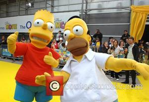 Bart Simpson and Homer Simpson 'The Simpsons Movie' UK premiere  at Vue Cinema - Arrivals London, England - 25.07.07