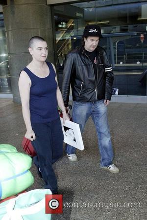 Sinead O'Connor  Arrives into Sydney Airport with her band ahead of her Sydney concert to be held on March...