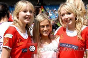 Samantha Marchant and Amanda Marchant Soccer Six at Millwall FC London, England - 18.05.08