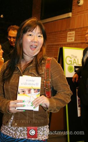 Margaret Cho opening reception for 'Rosie O'Donnell presents Solace: An Exhibition of Paintings' at The Gallery at New World Stages...