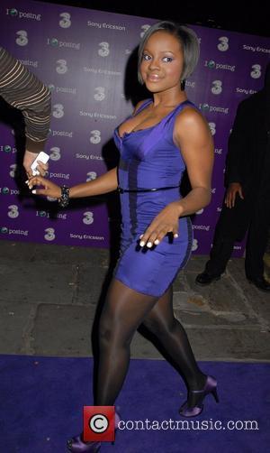 Keisha Buchanan of Sugababes Sony Ericsson K770i phone - launch party at The Bloomsbury Ballroom London, England - 24.10.07