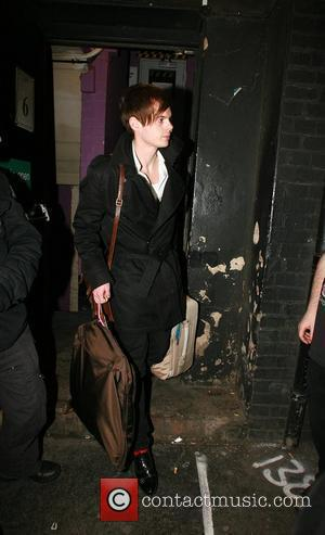 Richard Jones of The Feeling Leaving G-A-Y after preforming dressed as the Spice Girls London, England - 09.02.08