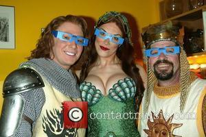 Clay Aiken, Hannah Waddingham & Jonathan Hadary Third Anniversary of their smash Broadway musical 'Monty Python's Spamalot' at the Shubert...