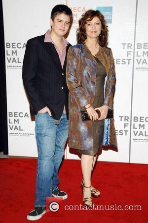 Susan Sarandon and her son Miles Tribeca Film Festival 2008 premiere of 'Speed Racer' - Arrivals New York City, USA...