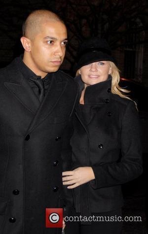 Jade Jones and Emma Bunton Aka Baby Spice, leaves Waverly Inn after dinner with Geri Halliwell aka Ginger Spice New...