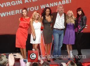 Victoria Beckham, Emma Bunton, Geri Halliwell, Richard Branson and Virgin