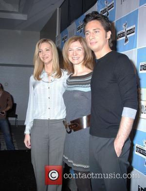 Lisa Kudrow, Dawn Hudson and Zach Braff