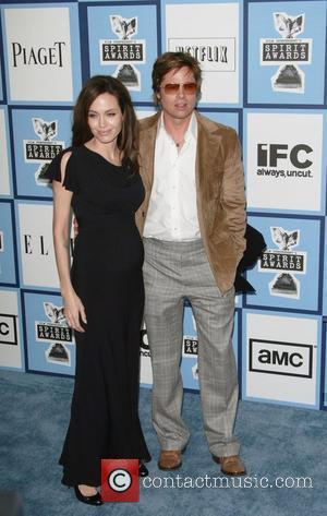 Angelina Jolie and Brad Pitt 2008 Film Independent's Spirit Awards at the Santa Monica Pier - Arrivals Santa Monica, California...