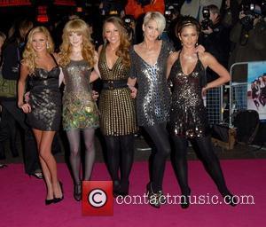 Nadine Coyle, Nicola Roberts, Kimberley Walsh, Sarah Harding and Cheryl Cole of Girls Aloud Premiere of 'St Trinian's' at Empire,...