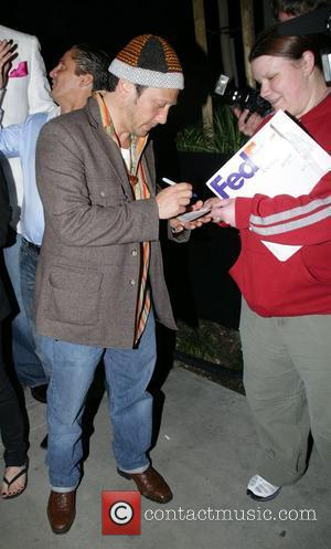 Rob Schneider leaving STK restaurant after dining with his partner West Hollywood, California - 21.03.08