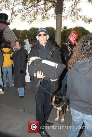 Richard Belzer Writers Guild of America, East continues their strike with celebrity support at Time Warner Center. Film and television...