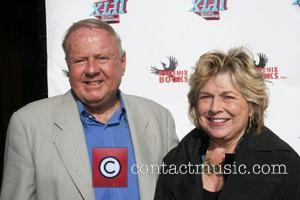 Dick Van Patten and Pat Van Patten attend the 'Superbowl Bash' at Spago restaurant  Beverly Hills, California - 03.02.08