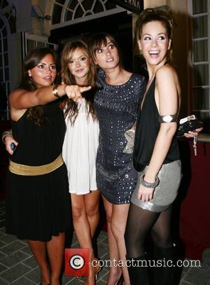 Hannah Tointon, Roxanne Mckee, Charley Webb, Jenna-Louise Coleman leaving the Superna Bar Leeds, England - 01.09.07